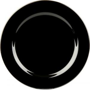 Talíř černý mělký 21cm