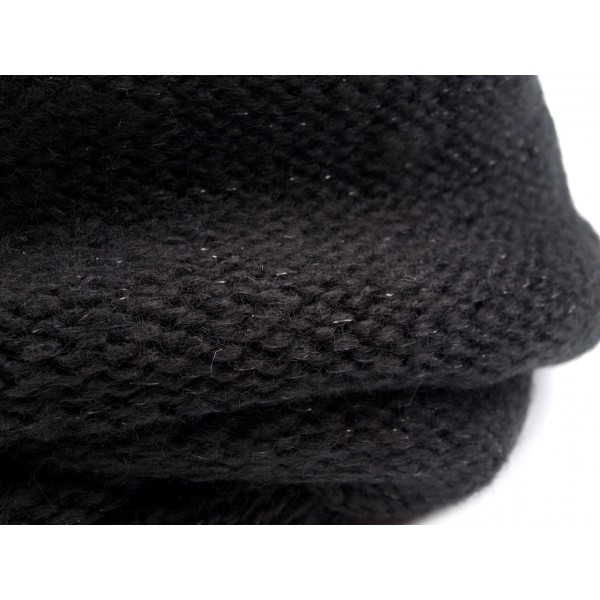 9034d9112ec Černý pletený nákrčník s lurexem Lusy - Černý shop