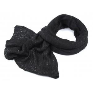 a2f5df9dc54 Černá šála pletená s flitry Falka - Černý shop