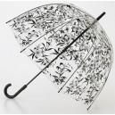 Černý deštník průhledný Brit