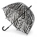 Černý deštník průhledný Zebra