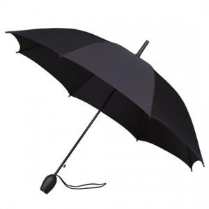 Černý deštník dámský rukojeť tulipán
