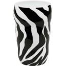 Černý hrnek tvarovaný Zebra